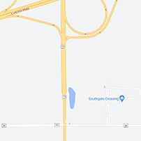 Map for Southgate Crossing (Farmers Market)